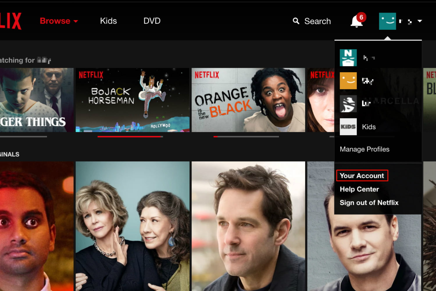 how to find viewing history on netflix