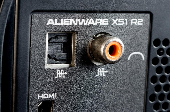 dell alienware x  review gaming desktop audio ports