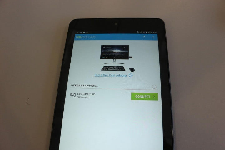 dell cast hands on tablet connect screen