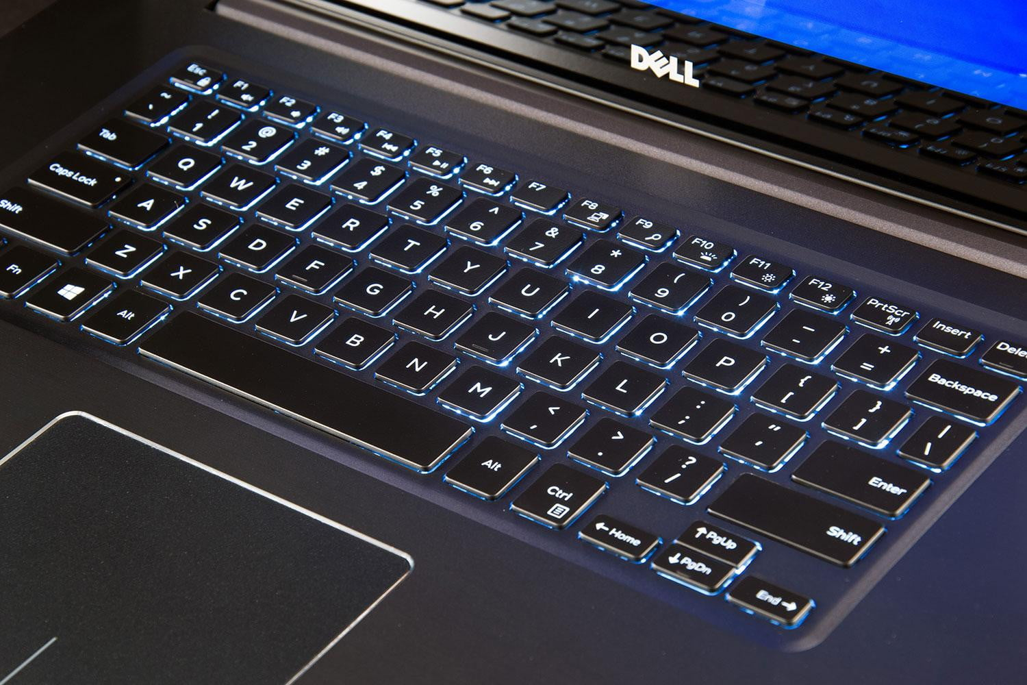 Dell inspiron 15 7000 with 4k display review digital trends for Window keyboard