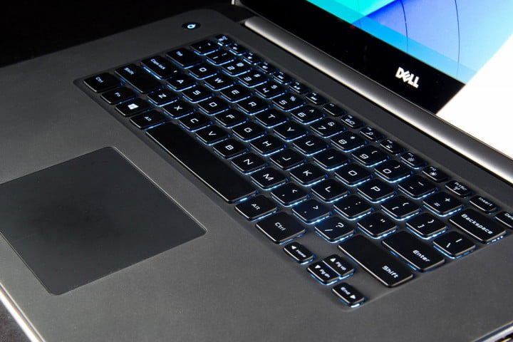 dell precision m  review keyboard angle