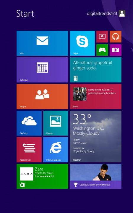 dell venue  pro review screenshot start