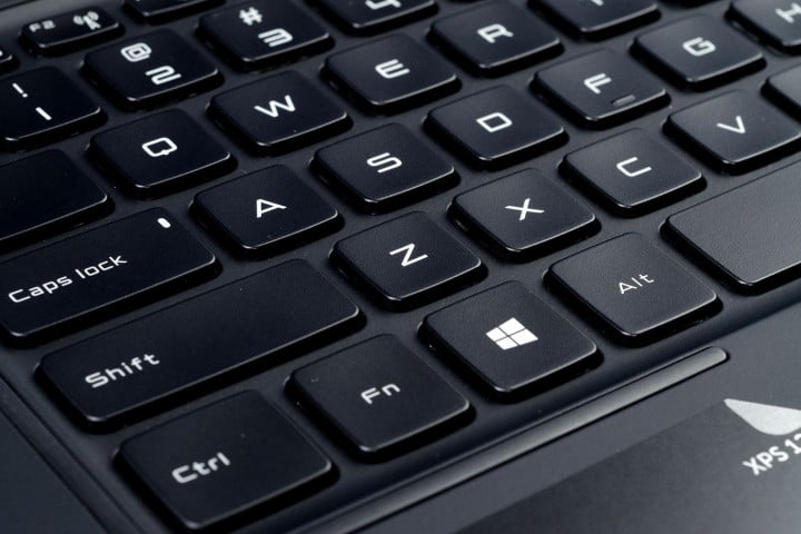dell xps  review keyboard macro angle