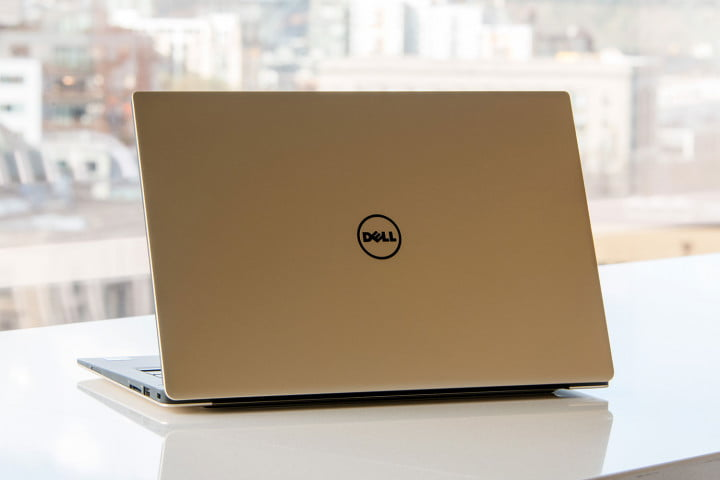 dell xps  review gold back angle