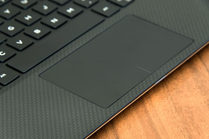 dell xps  review gold trackpad weave