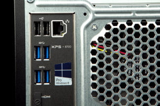 Dell XPS 8700 Desktop back ports