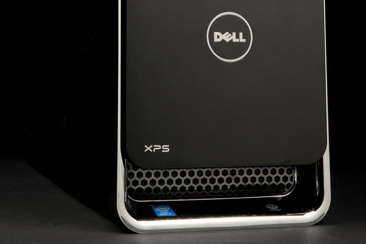 dell xps  review desktop bottom angle