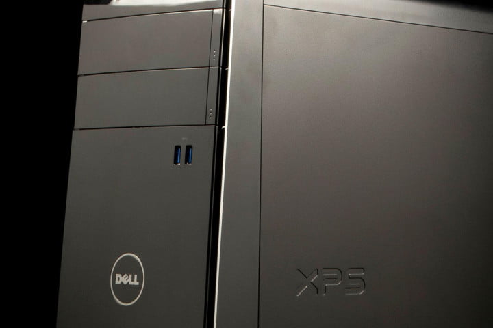 dell xps  review desktop tower angle macro
