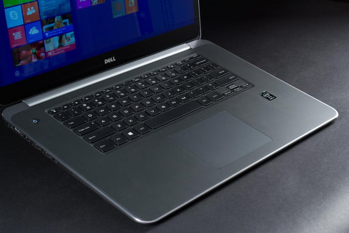 dell xps  touch review keyboard angle