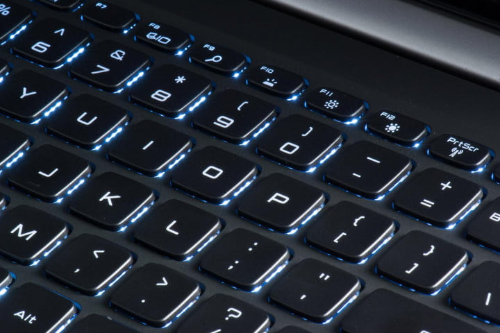 Dell XPS 15 review keyboard macro