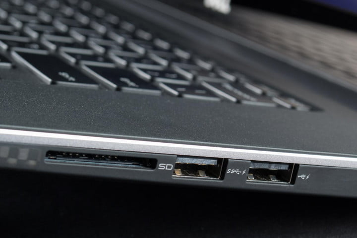 dell xps  touch review left side ports