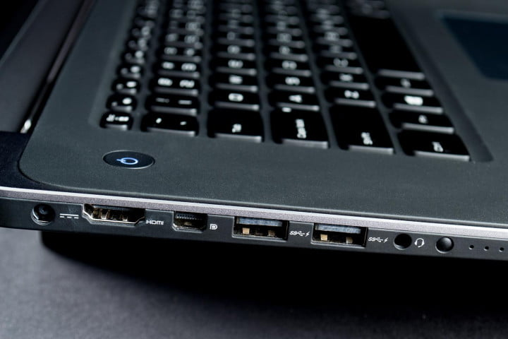 dell xps  touch review right side ports