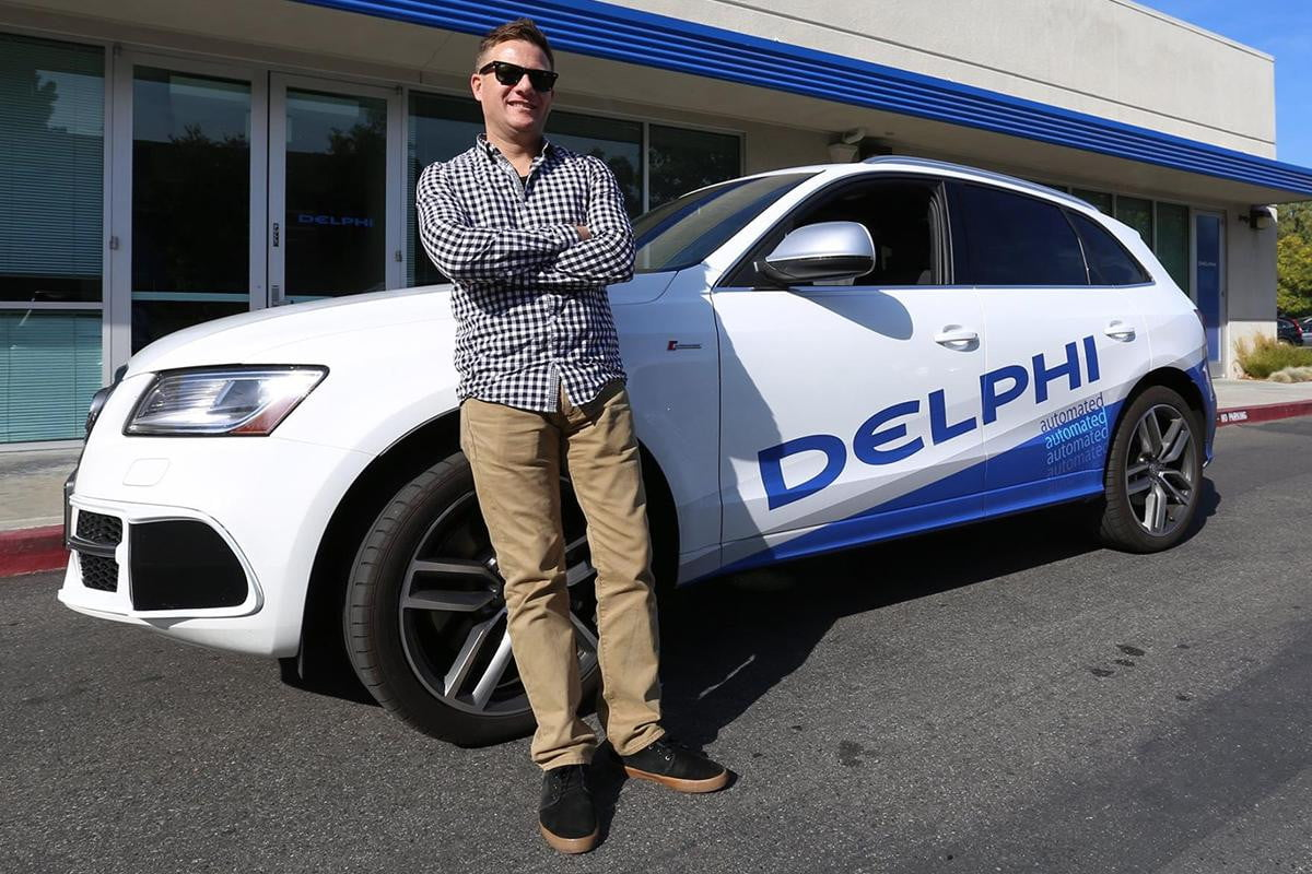 the self driving car heading on a  mile coast to trip delphi