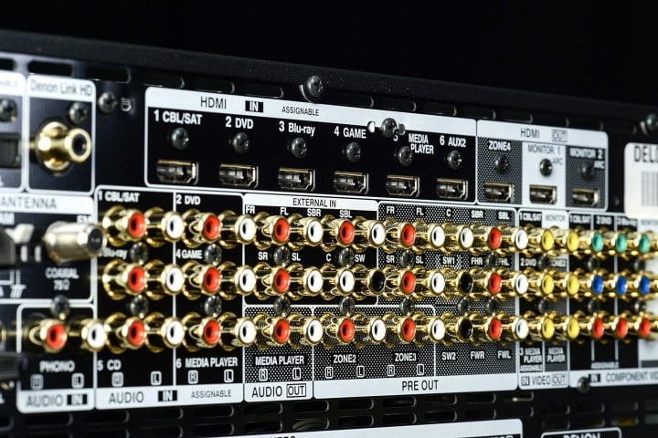 denon avr  ci review av receiver audio inputs