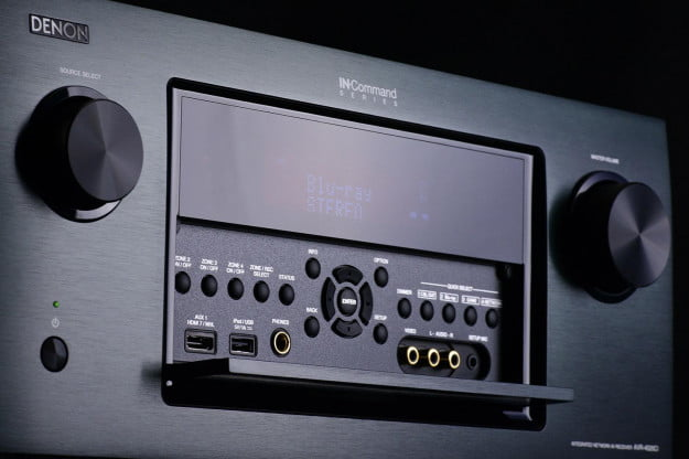 Denon AVR 4520ci AV receiver front screen angle