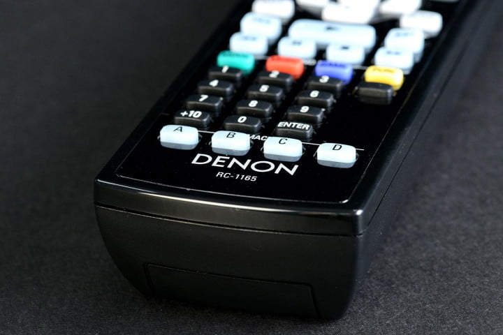 denon avr  ci review av receiver remote bottom
