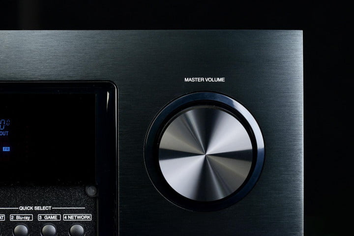 denon avr  ci review av receiver volume knob