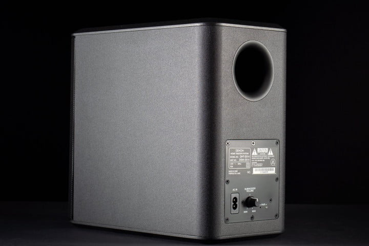 denon dht s  review subwoofer rear