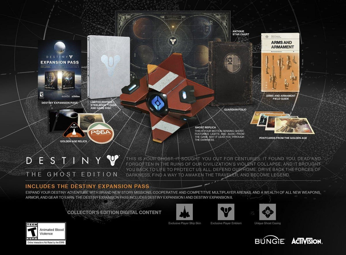 bungie announces three special editions destiny pre order ghost edition