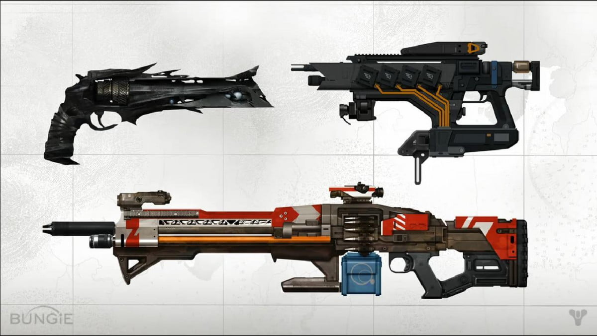 destiny loot and weapons
