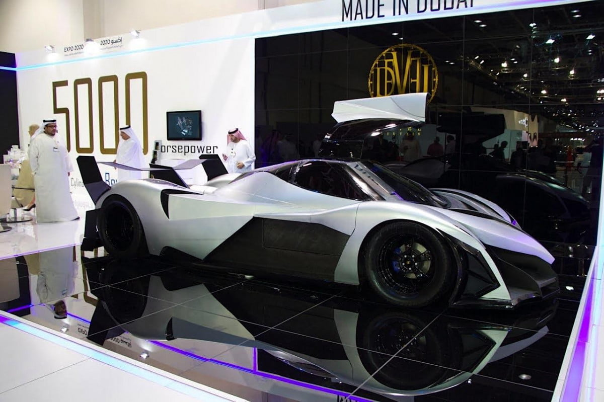 devel sixteen  hp supercar spotted on the road