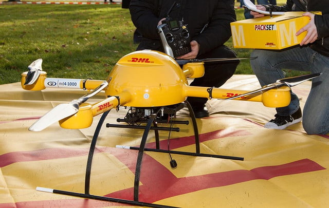 dhl drone start making deliveries german island