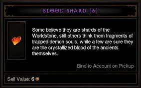 Diablo 3 Blood Shards