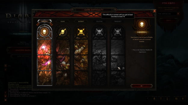 Diablo 3 difficulties
