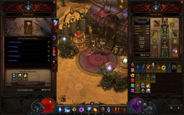 Diablo 3 Mystic interface