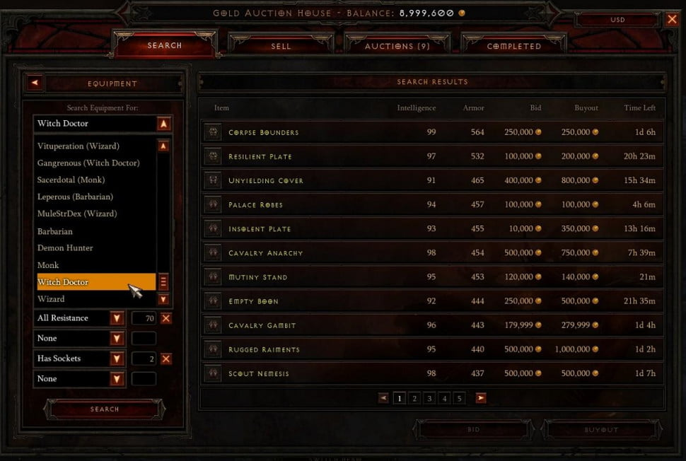 Diablo III Auction House