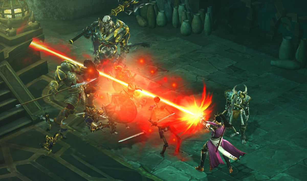 diablo iii patch support confirmed xbox one ps  beta wizard vs skeleton king