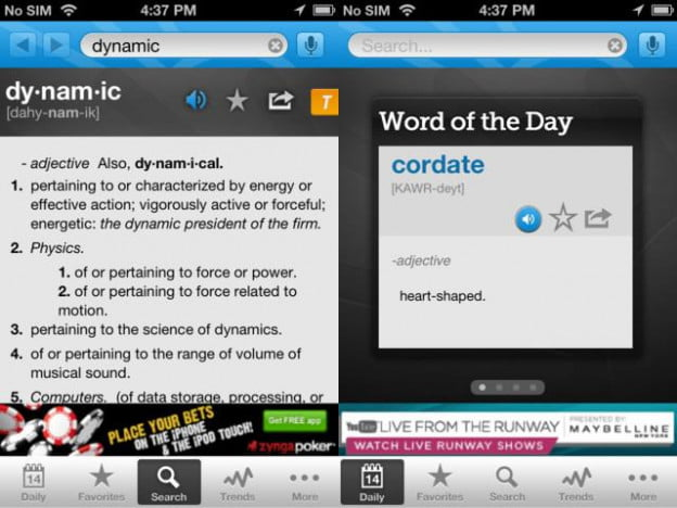 dictionary screenshots reference learning school productivity ios android app