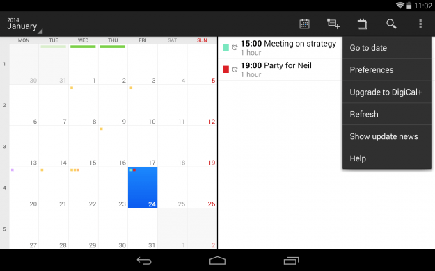 DigiCal_Calendar_Android_tablet_app_screenshot