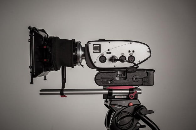 The Digital Bolex outfitted with a cinema lens and rig.
