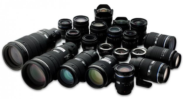 Different focal lengths of digital camera lenses