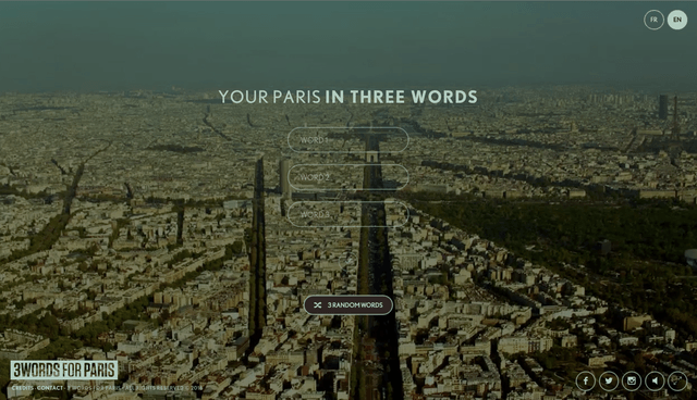 proyecto paris tres palabras  words for x