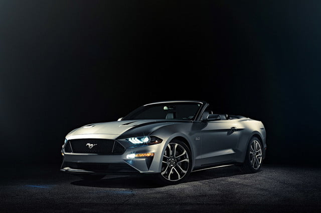 food mustang convertible  ford gt ingot silver x