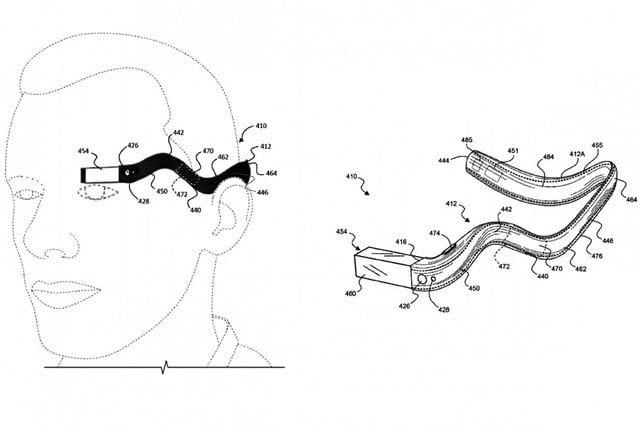 patente google glass monocle  x