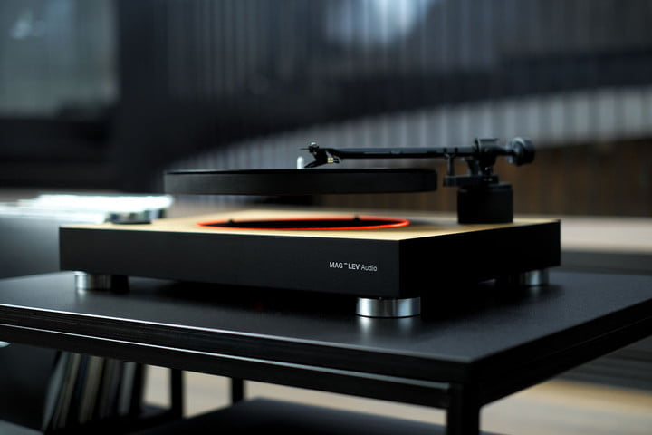 tocadiscos moderno hace flotar musica mag lev audio turntable  x c