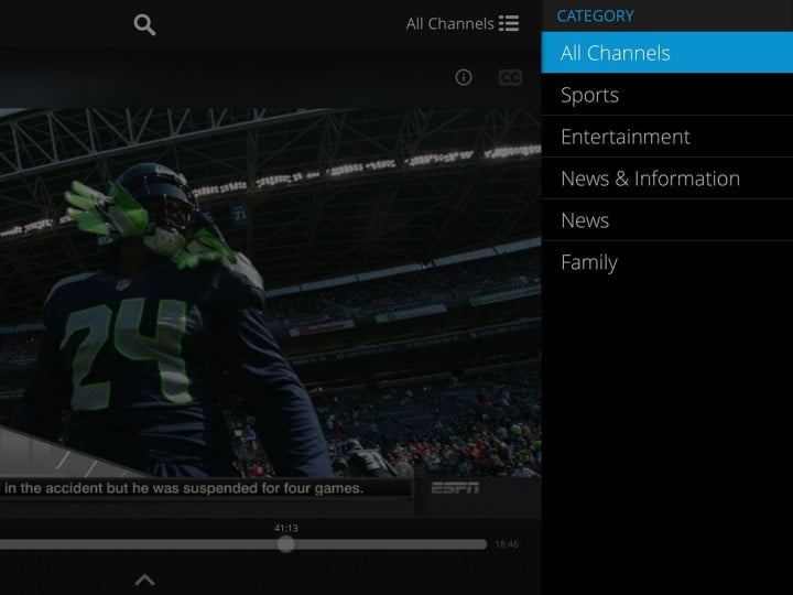 sling tv hands on with video dish app