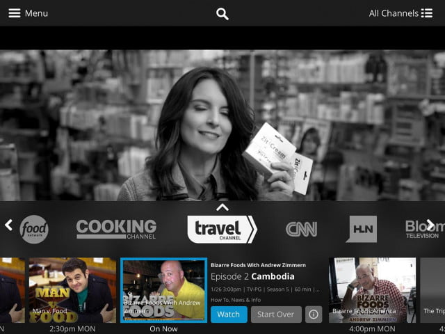 sling tv on android nexus player dish app
