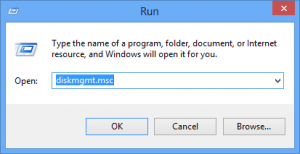 You can also run Disk Manager from the run dialog.
