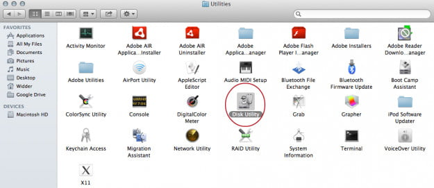 How to mount an ISO: Mac OS X Disk Utility