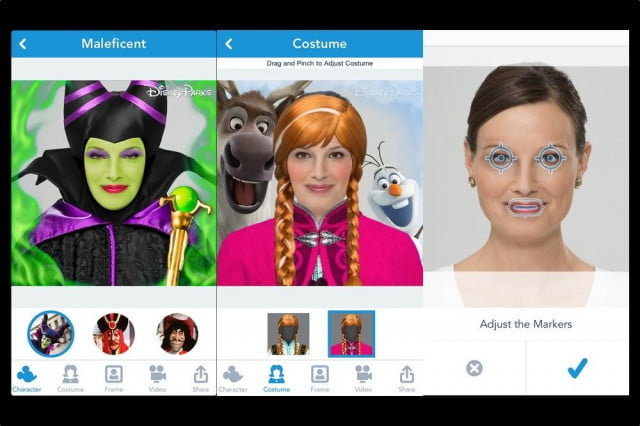 disney iphone app turns your selfies into  d characters from star wars frozen side