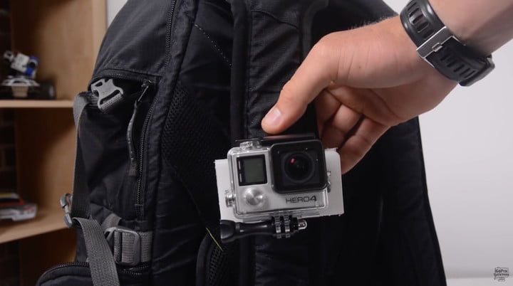 DIY GoPro Shoulder Strap Mount 4