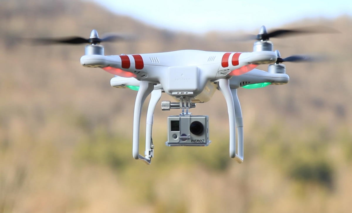 gopro developing consumer drones for  launch report says dji phantom with hero hd