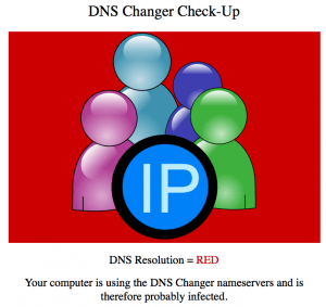 DNS Changer Check Red
