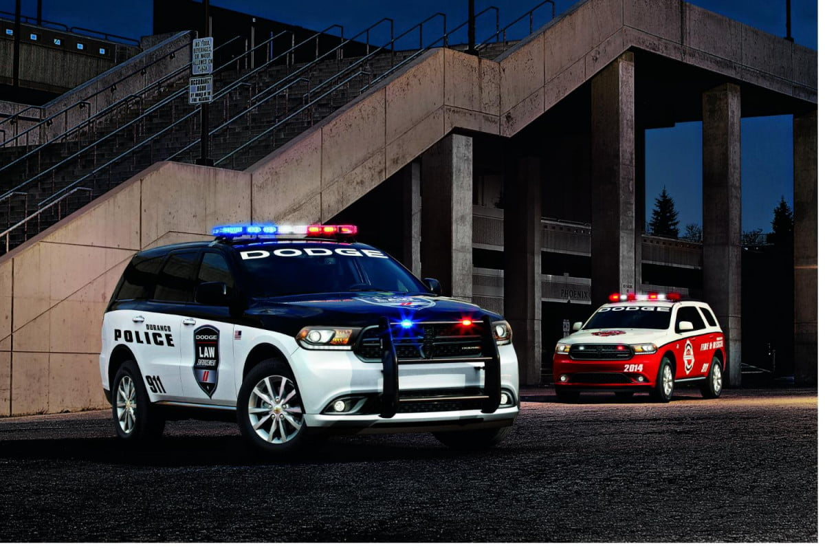 the dodge durango may have ron burgundy but special service edition is for officer friendly