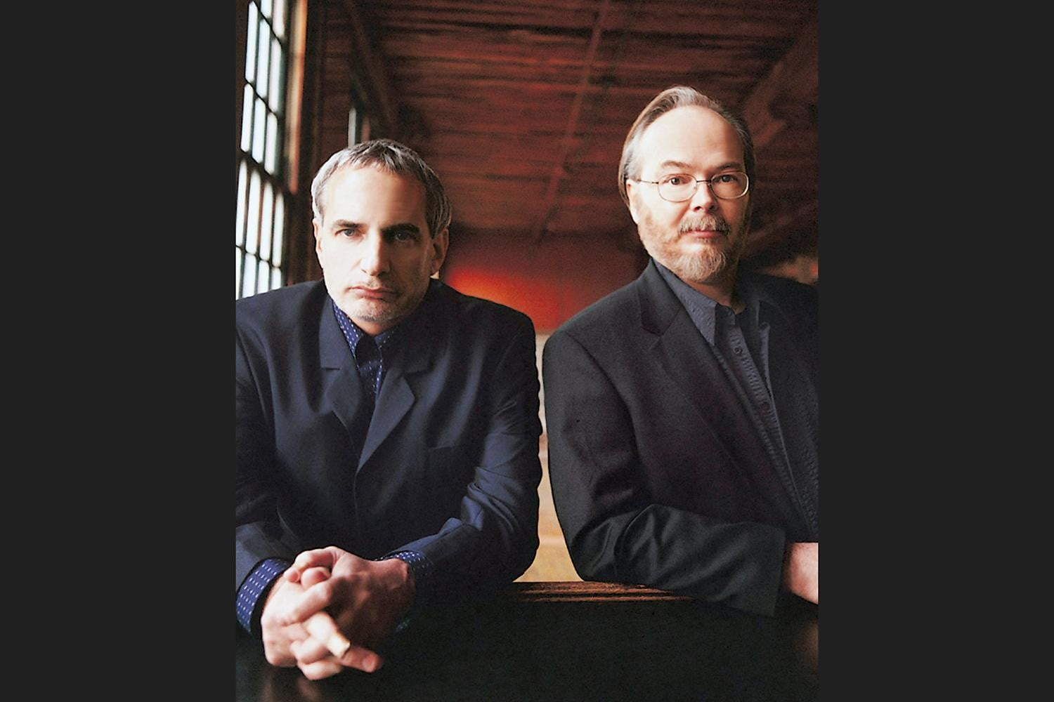 DONALD-FAGEN-&-WALTER-BECKER-_-LEANING-_-PHOTO-BY-DANNY-CLINCH