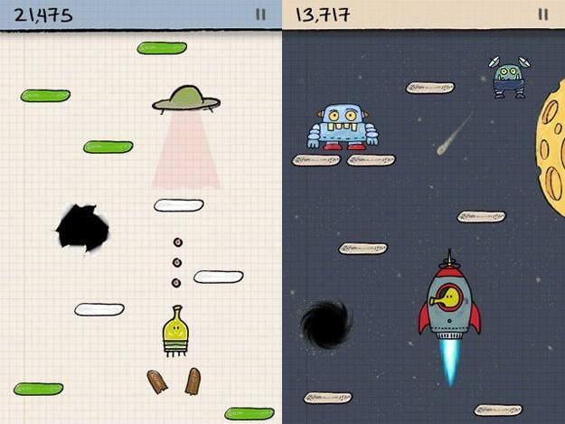 doodle jump screenshot kindle fire game app